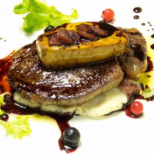 Cattle fillet meat and foie gras Rossini style
