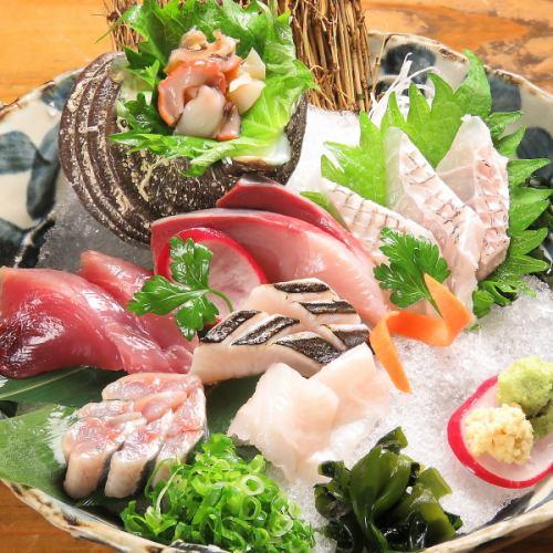 瀬戸内の鮮魚のお刺身