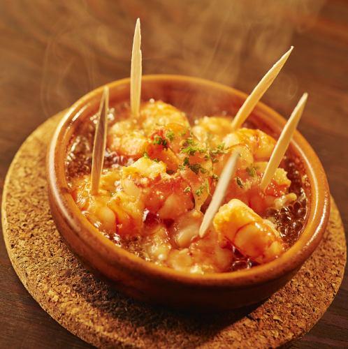 海老のアヒージョ Shrimps Ajillo