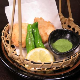 Deep fried shrimp prawns of Niigata!