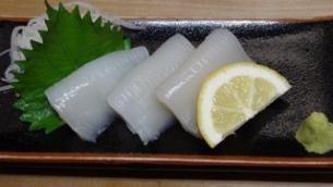 Seasonal prawn sashimi