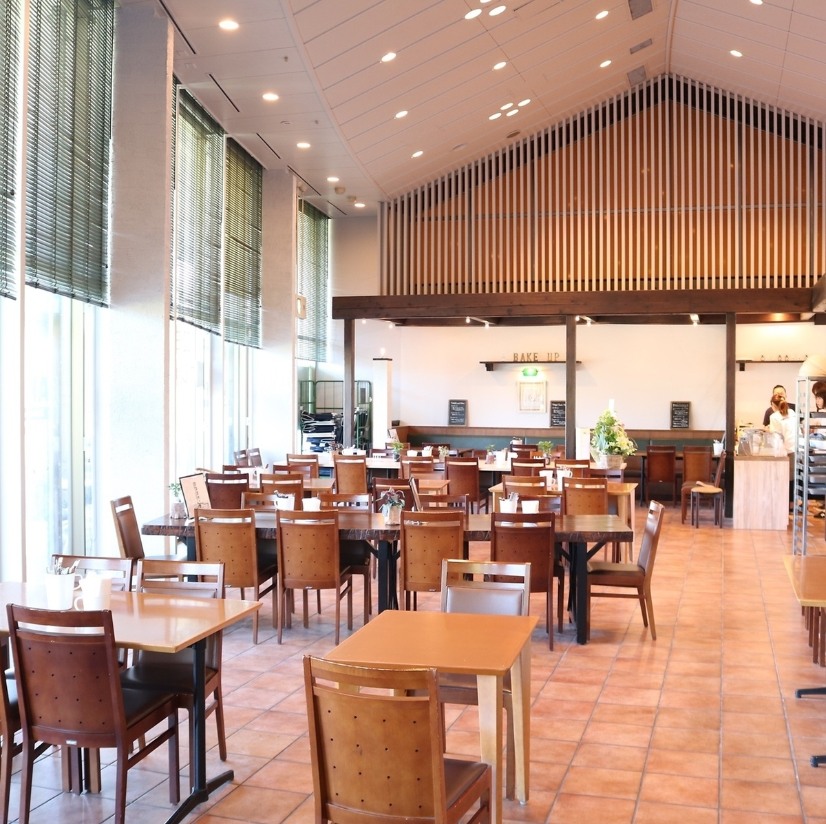 【Toriyagogi Park seen from a big window】 You can enjoy your meal while watching the scenery outside ♪