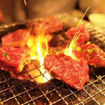 [Chicken grilled course] with 2-hour all-you-can-drink usually 4000 yen → 3000 yen (tax) free-range chicken of seared / Satsuma chicken of the charcoal brazier grilled ... 10 dishes