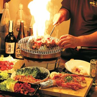 【Grilled Shichiba & Chicken Sting Course】 2 hours with all you can drink 4500 yen → 3500 yen (excluding tax) Chicken's Tataki / lever stabbing ... 12 items
