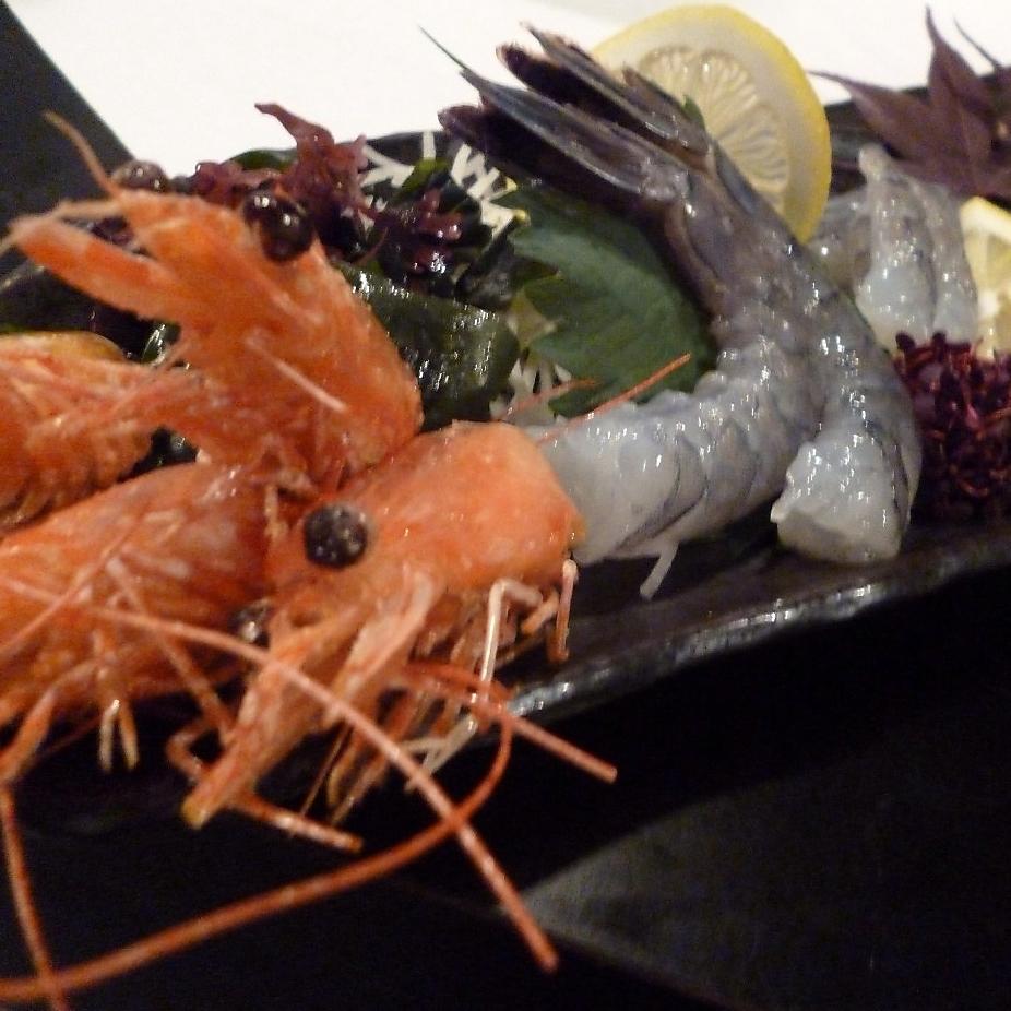 Angel's shrimp puncture (2 animals)