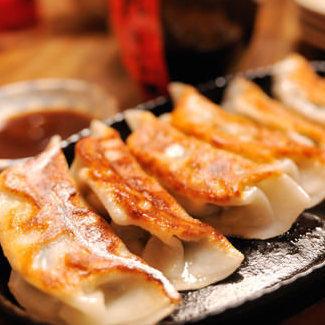 Teppan-yaki dumplings