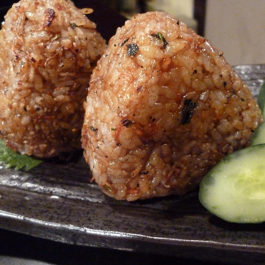 Grilled rice ball (2 pcs)