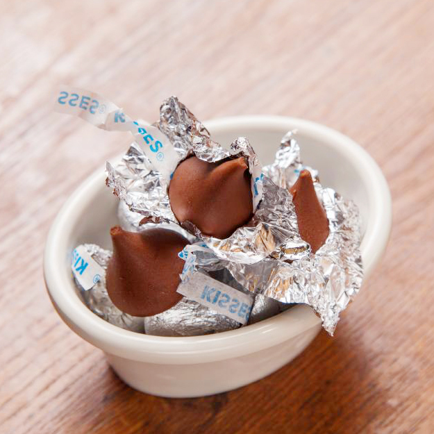A kiss chocolate