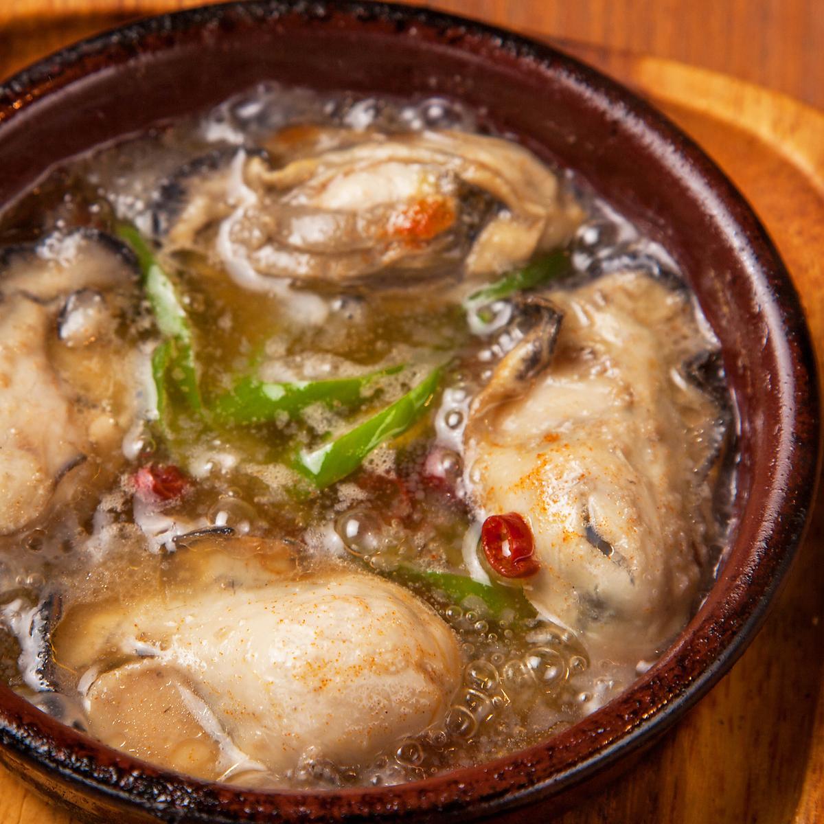 牡蠣のチリージョ