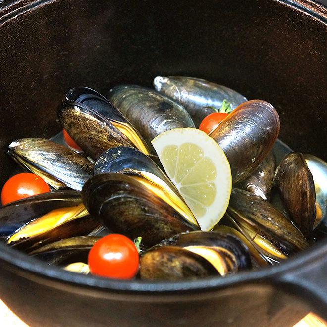홍합 에일 찜 Mussels of ale beer steamed