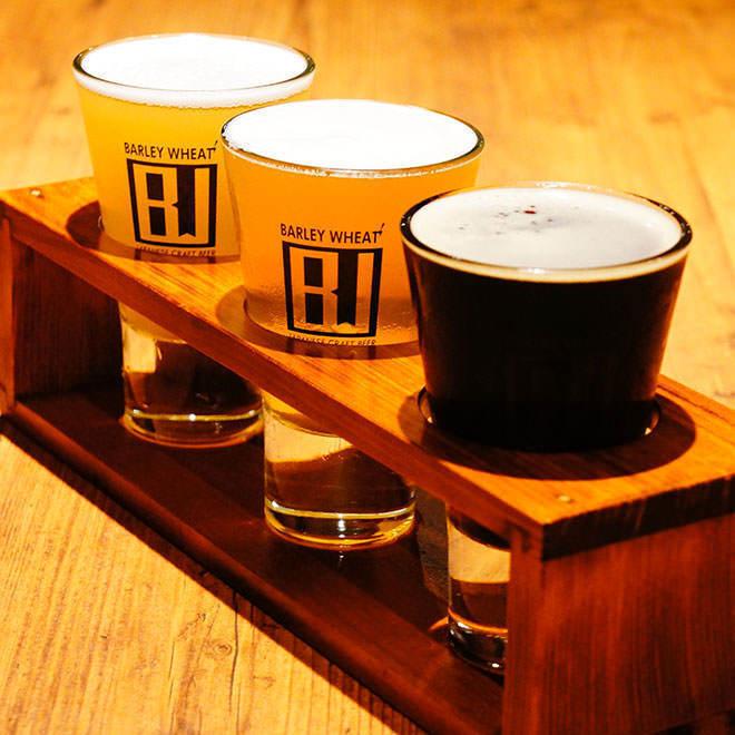 大人気!国産クラフトビール3種類飲み比べ『ビアフライト』