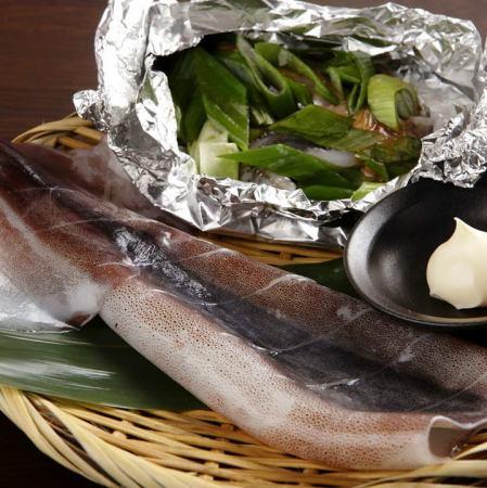 イカの丸焼き