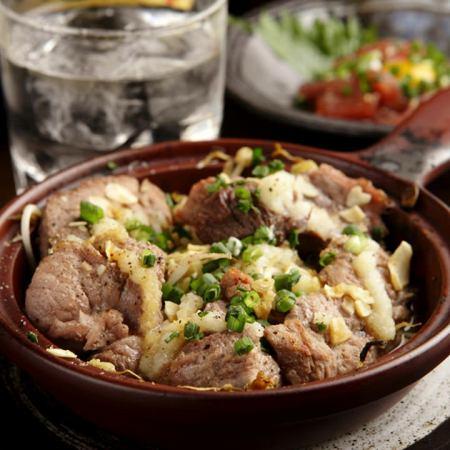 マグロのほほ肉 ガーリックステーキ