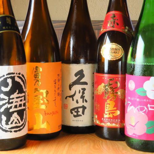 日本酒、焼酎など豊富にご用意。