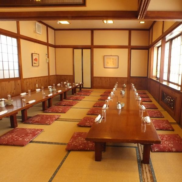大人数の宴会には最大45名様用のお座敷完全個室がございます。大きな宴会にもご利用下さい◎