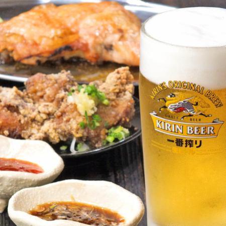 2H [Drinking] 1,200 yen! Including 1 cup of raw / Azenadujushi ~ Please deep fried!