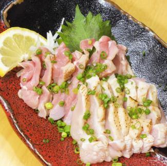 Assorted black satsuma chicken sashimi