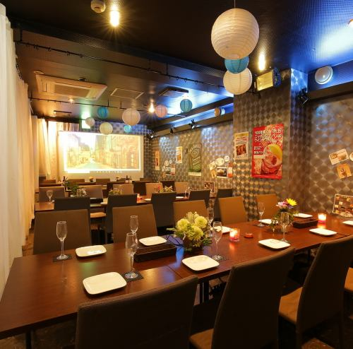 [To the follow-up party / welcome and farewell party] It is possible to correspond to up to 100 people reserved