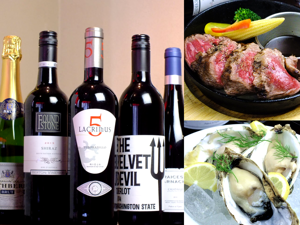 Wine you can drink! Enjoy the sheer meat & creative seafood cuisine!