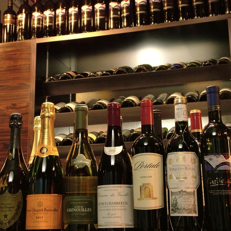 ◆ We have a wide selection of wines