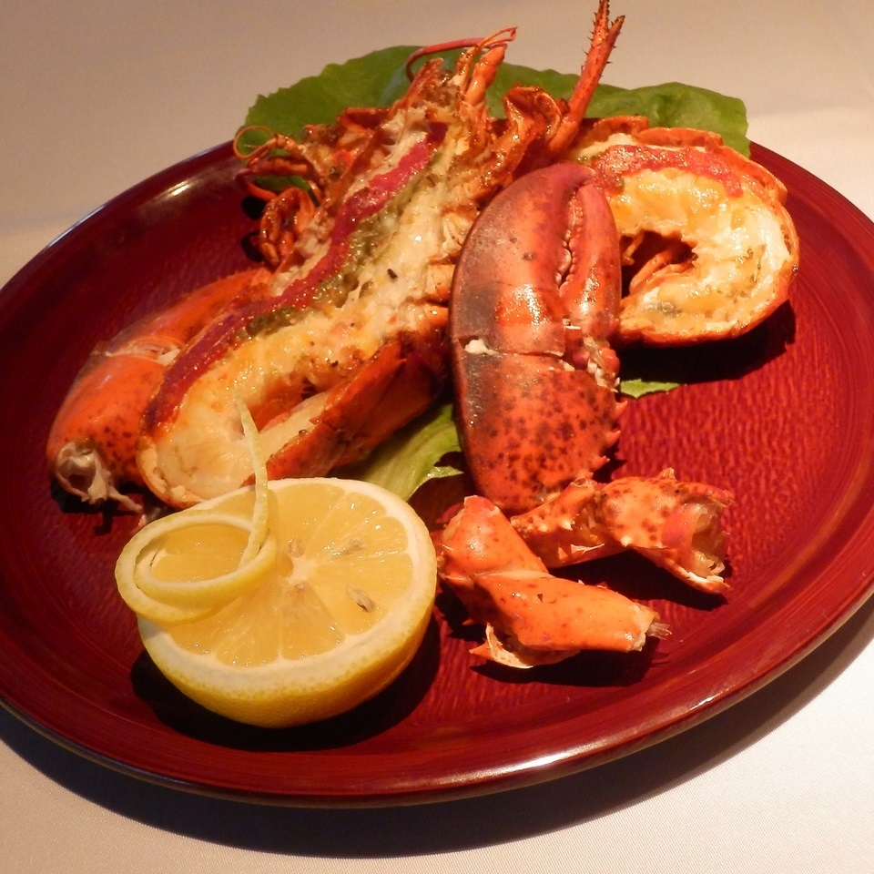 Fried American lobster 's teppanyaki about 350 g
