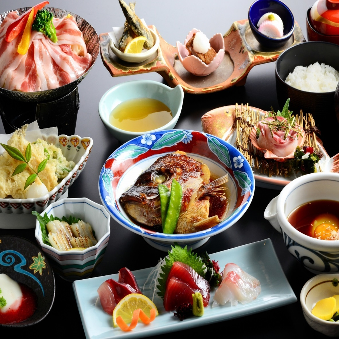 """Fresh fish sashimi filling"" With unlimited drink course 3800 yen ~"