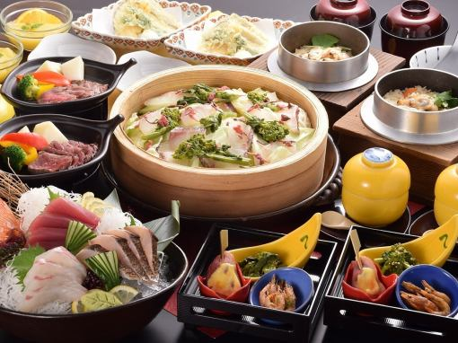 【2 hour drinks included! Kudaya Hanbei party courses (10 items) 5000 yen】