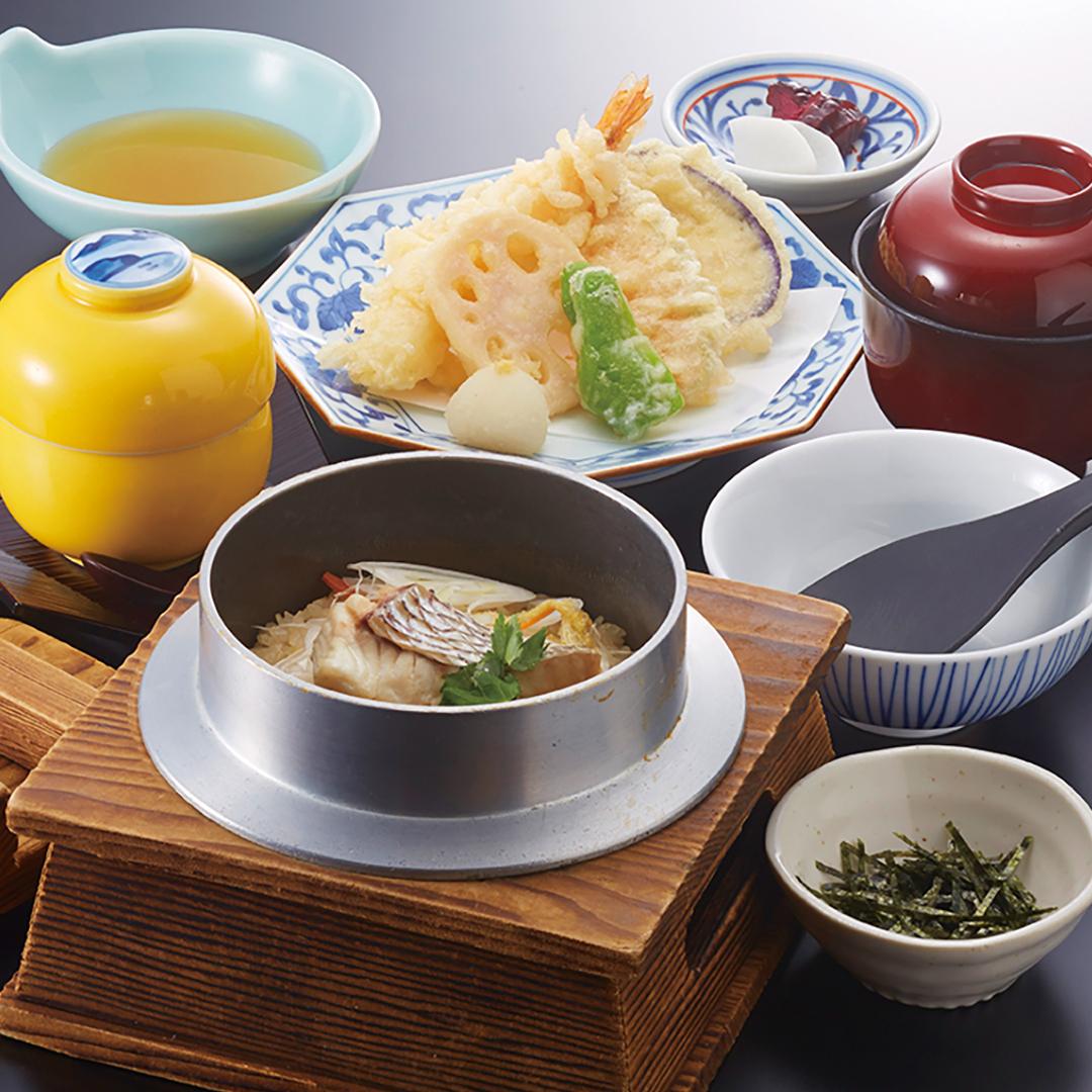 天ぷら釜めしランチ