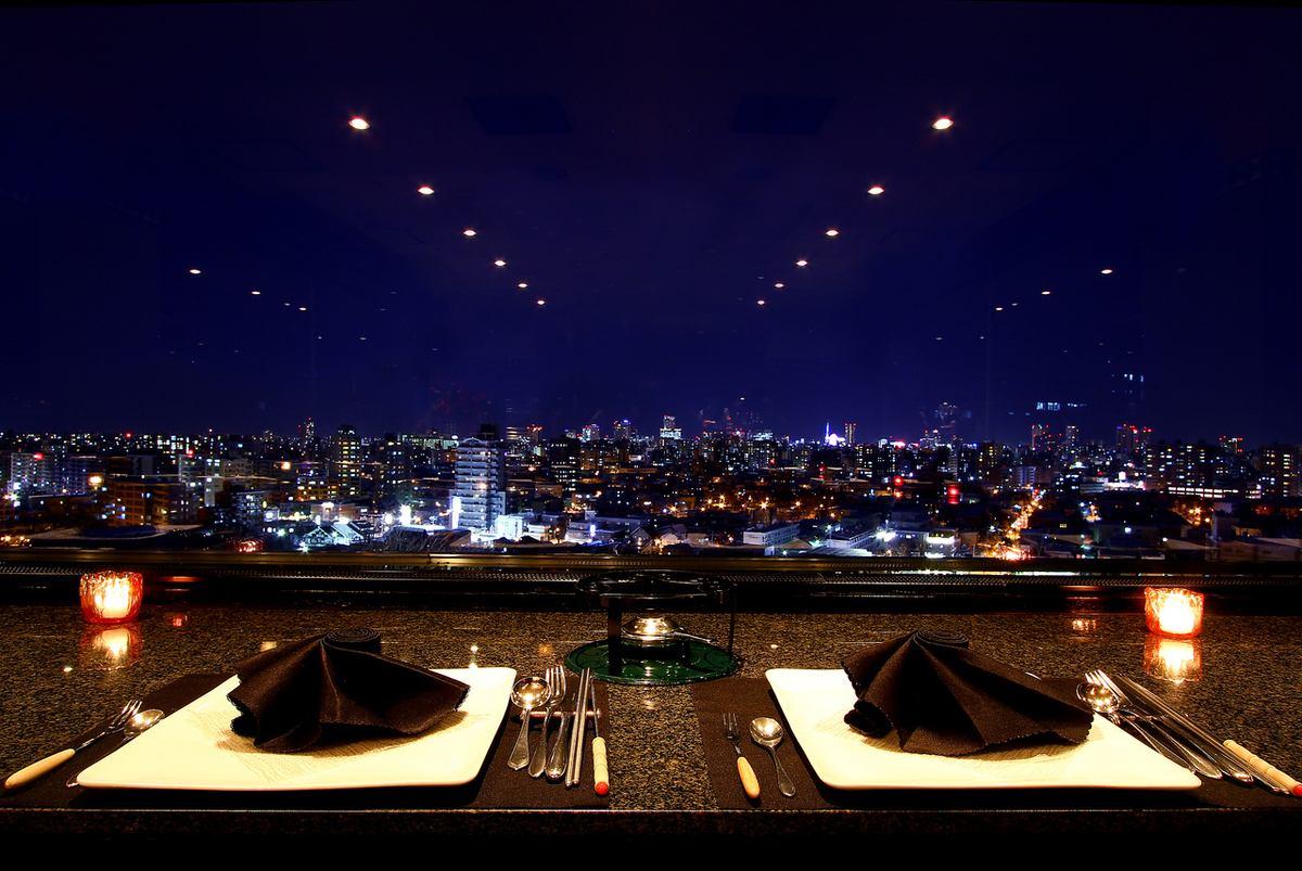 十三 夜景 レストラン