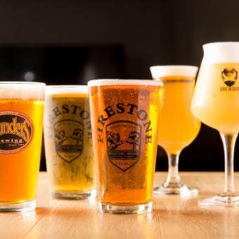 クラフトビール5種含む2時間飲み放題
