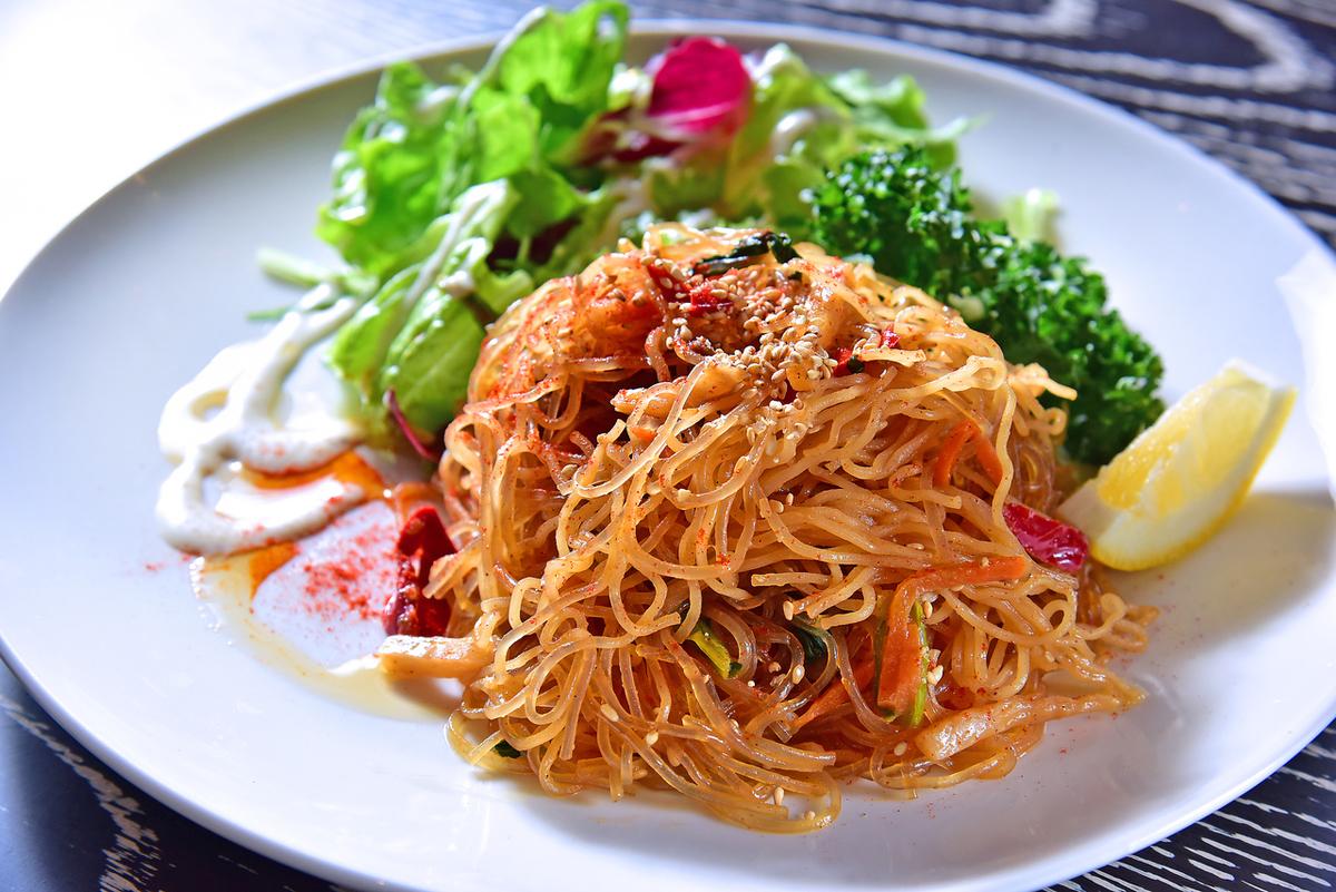 野菜たっぷり甘辛チャプチェ