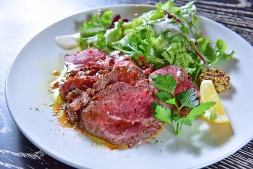 Roast beef with truffle sauce