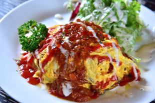 Soft omelet rice special Demi sauce hook