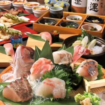 【Suruga beef, natural ground fish-hand-held sushi!】 Noriko's premium premium course 7000 yen