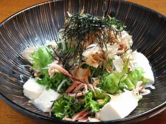 手作り豆腐の入った浜松静岡サラダ