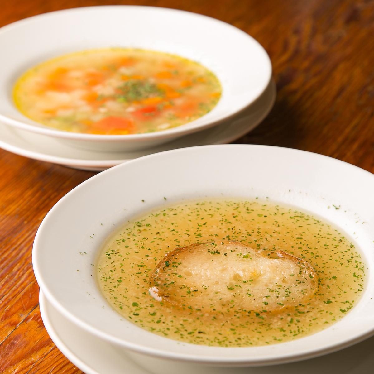 イタリー風スープ各種