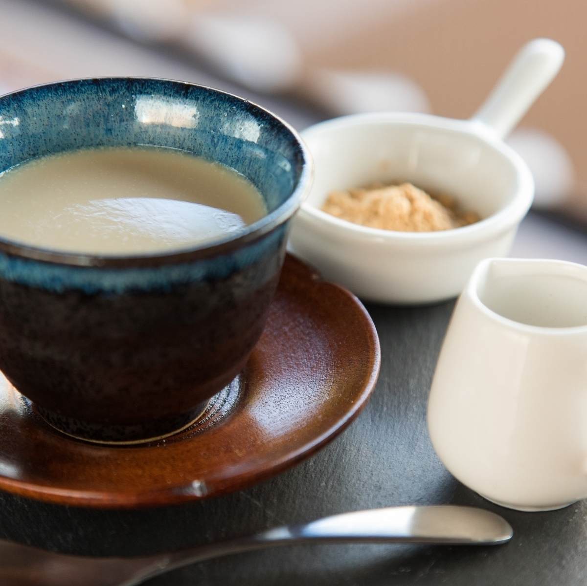 "Soy milk of Kyoto and town and ""Tatame tea"""
