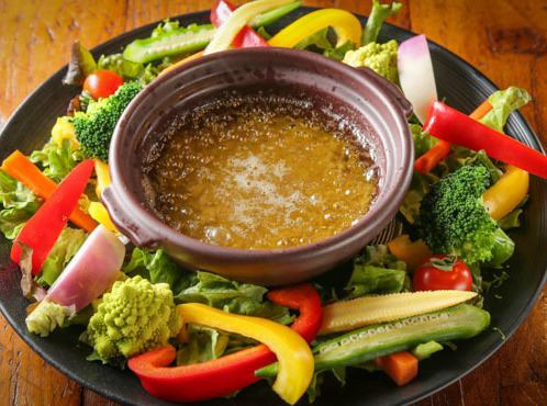 Bagna cauda which can enjoy 10 kinds of vegetables