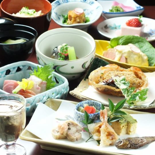 "【Recommended for Farewell Participation】 Monthly Kaiseki Kaiseu ""Kawagoe Gozen"" (Banquet with Fried Link of 5 or more Tax Included 8,316 yen)"