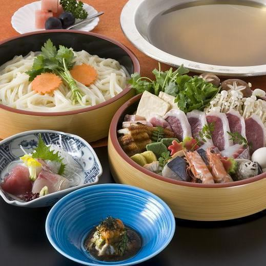 Udonkei course 6264 yen (tax included \ 6890 yen)