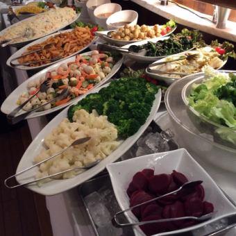 【シュラスコ無し】サラダ含むブラジル家庭料理120分食べ放題★2400円