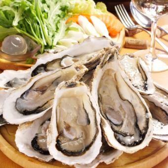 ◆牡蠣のコラーゲンボール付!牡蠣しゃぶ鍋食べ放題◆〆の雑炊or麺付3480円(税抜)