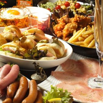 [派對/歡迎派對/第二次婚禮♪]很多3小時★飲酒和6道菜4500日元★15人〜包機OK