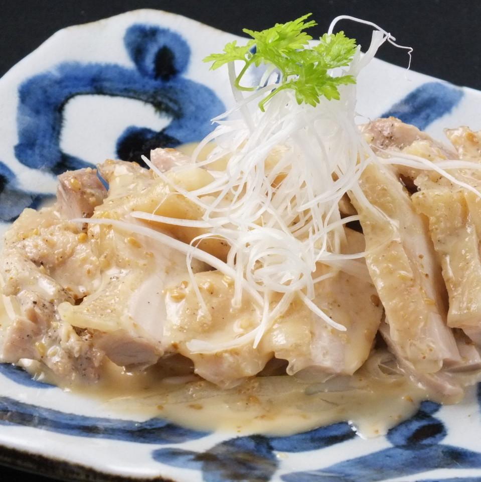 蒸し鶏(塩ダレ)