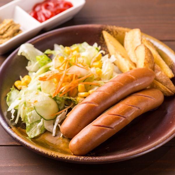 【老舗精肉店のオリジナル】粗挽きフランクフルト2本(エチゴヤオリジナルレシピ)