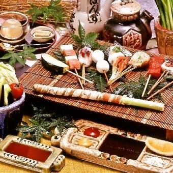 山田锦(山田锦)串15种课程4968日元(含税)