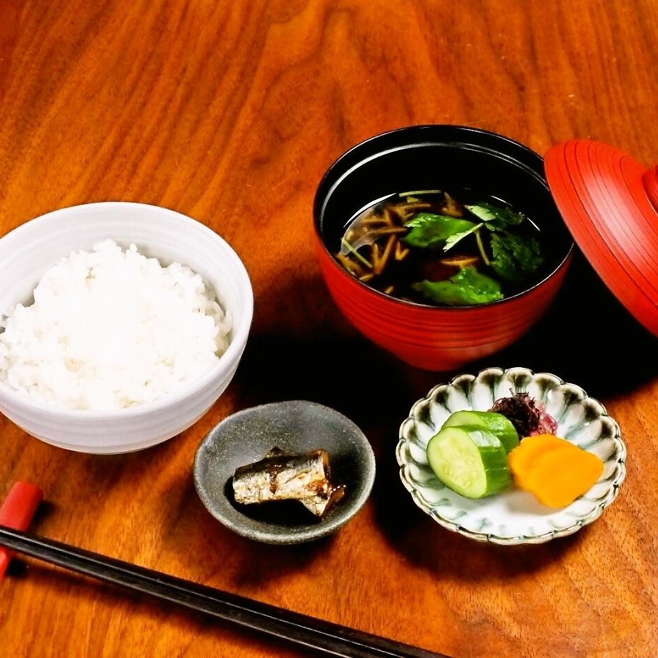 白飯と赤出汁セット
