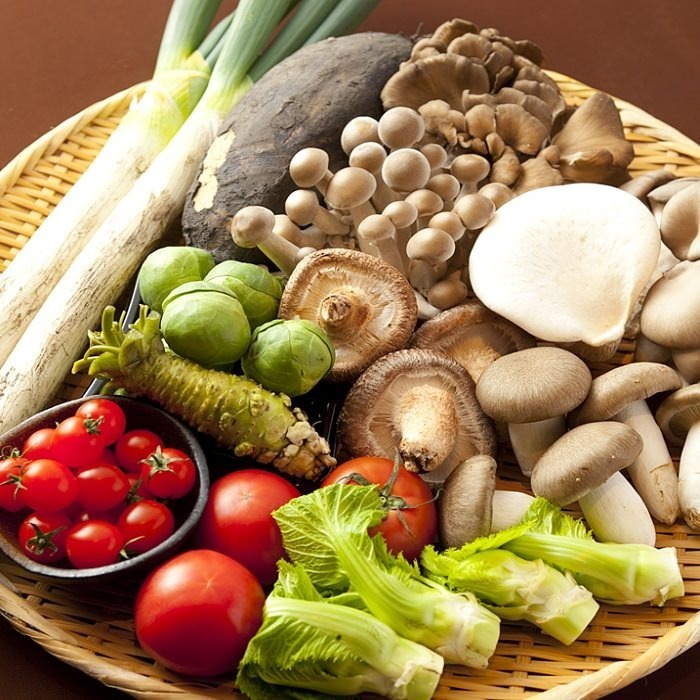 Vegetables of the feature raised by local farmers