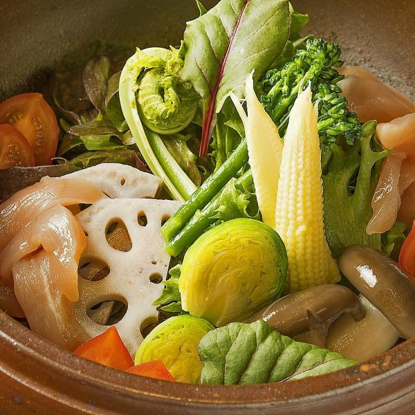 Not only chicken but also many vegetable leading menu