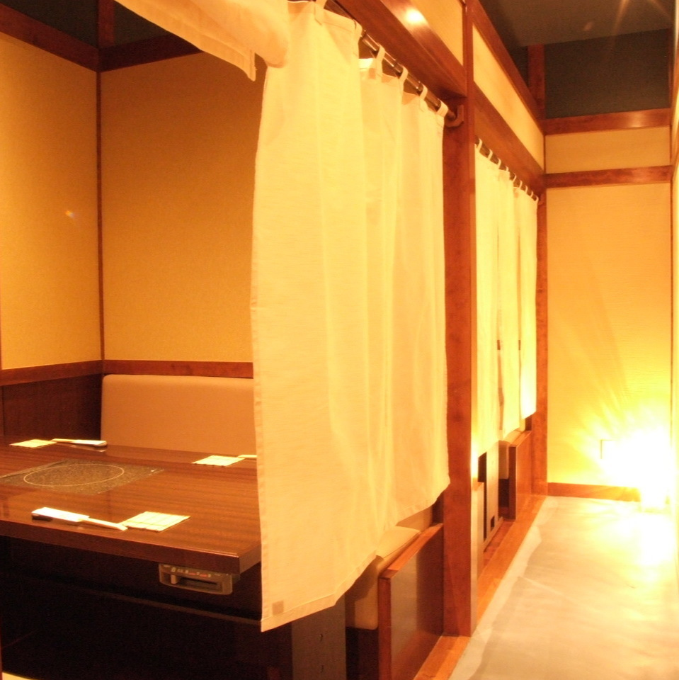 A private room which was partitioned is also for date and entertainment!